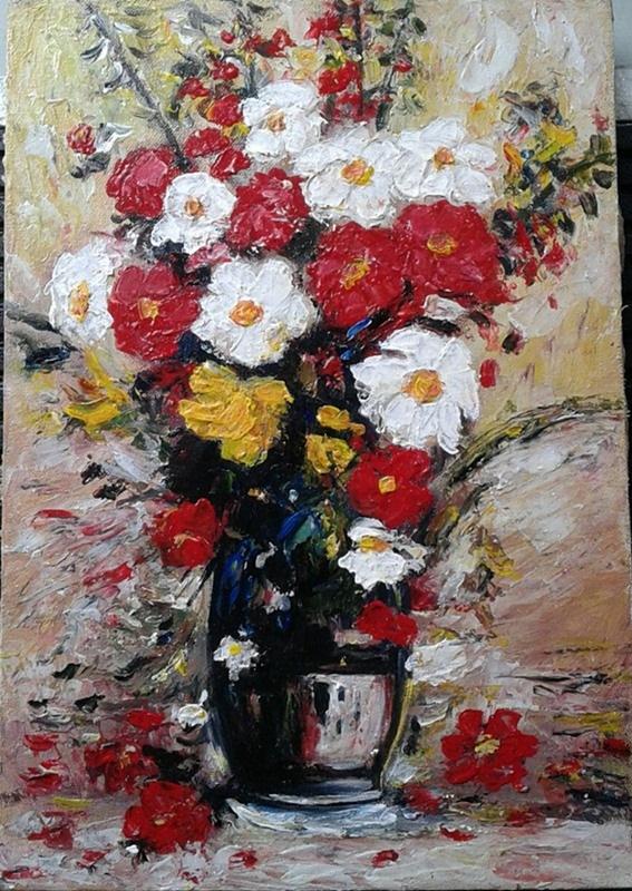 contoh gambar lukisan bunga tulip contoh blue